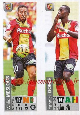 2018-19 - Panini Ligue 1 Stickers - N° 537 - Walid MESLOUB + Yannick GOMIS (RC Lens)