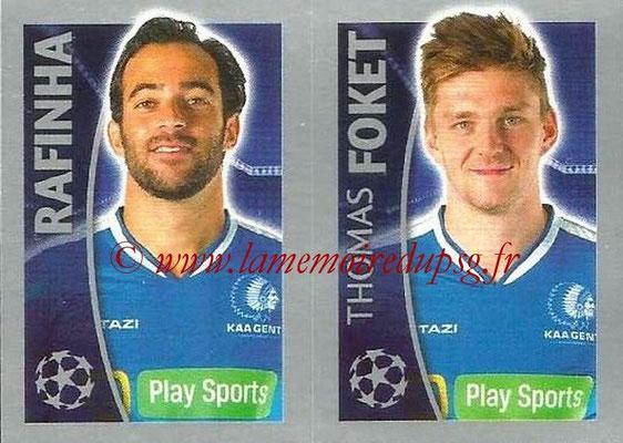 2015-16 - Topps UEFA Champions League Stickers - N° 549 - RAFINHA + Thomas FOKET (KAA Gent)