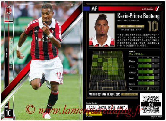 Panini Football League 2013 - PFL01 - N° 007 - Kevin-Prince Boateng ( A.C. Milan )