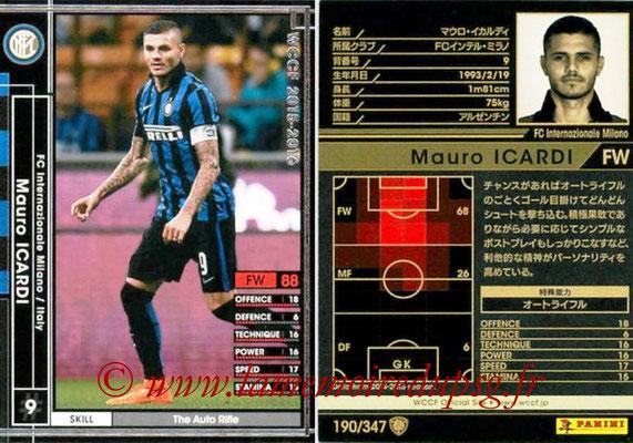 2015-16 - Panini WCCF - N° 190 - Mauro ICARDI (FC Inter Milan)