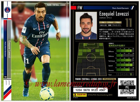 Panini Football League 2013 - PFL04 - N° 072 - Ezequiel LAVEZZI (Paris Saint-Germain)