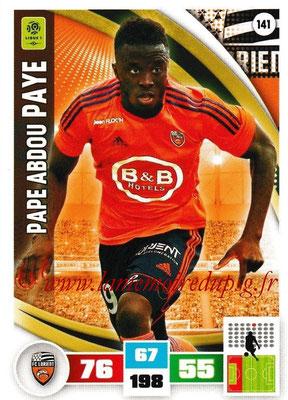 2016-17 - Panini Adrenalyn XL Ligue 1 - N° 141 - Pape Abdou PAYE (Lorient)