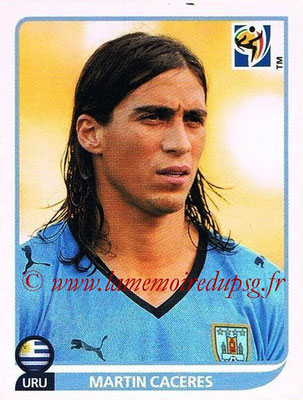 2010 - Panini FIFA World Cup South Africa Stickers - N° 074 - Martin CACERES (Uruguay)