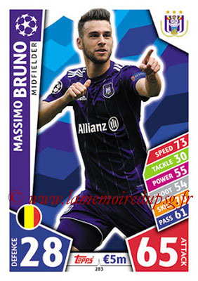 2017-18 - Topps UEFA Champions League Match Attax - N° 283 - Massimo BRUNO (RCS Anderlecht)