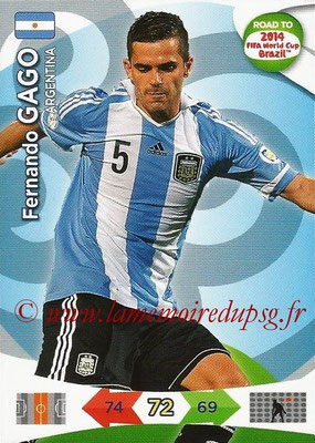2014 - Panini Road to FIFA World Cup Brazil Adrenalyn XL - N° 007 - Fernando GAGO (Argentine)