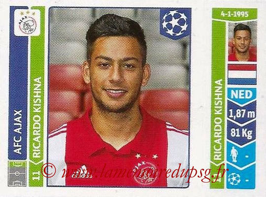 2014-15 - Panini Champions League N° 468 - Ricardo KISHNA (AFC Ajax)
