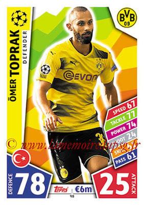 2017-18 - Topps UEFA Champions League Match Attax - N° 098 - Ömer TOPRAK (Borussia Dortmund)