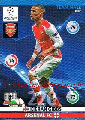 2014-15 - Adrenalyn XL champions League Update edition N° UE017 - Kieran GIBBS (Arsenal)