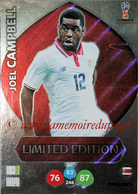 2018 - Panini FIFA World Cup Russia Adrenalyn XL - N° LE-JC - Joel CAMPBELL (Costa Rica) (Limited Edition)