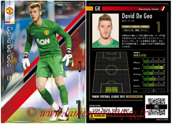 Panini Football League 2013 - PFL01 - N° 078 - David De Gea ( Manchester United  )