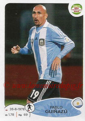 2014 - Panini Road to FIFA World Cup Brazil Stickers - N° 068 - Pablo GUINAZU (Argentine)