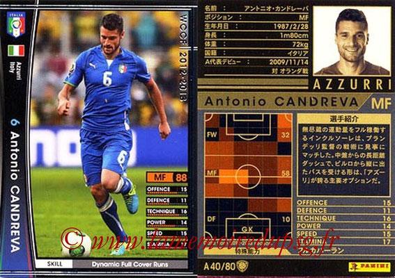 2012-13 - WCCF - N° A40 - Antonio CANDREVA (Italie)