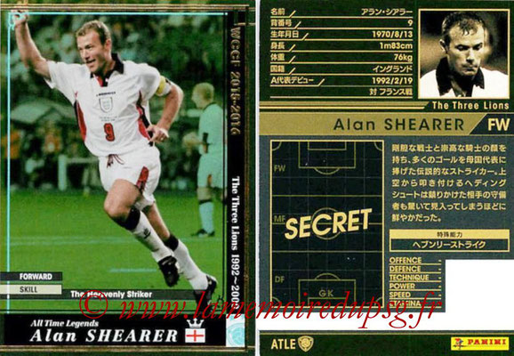 2015-16 - Panini WCCF - N° ATLE15 - Alan SHEARER (Angleterre) (All time Legends)