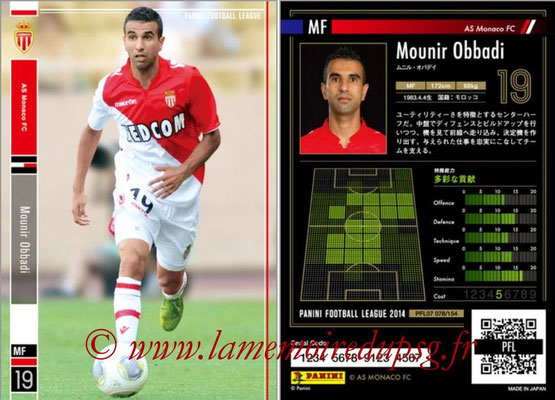 Panini Football League 2014 - PFL07 - N° 078 - Mounir OBBADI (AS Monaco)