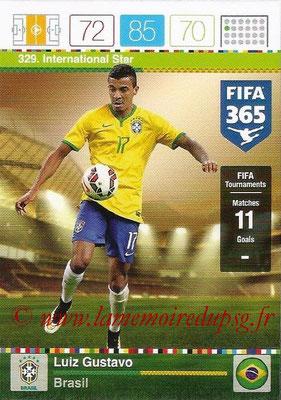 2015-16 - Panini Adrenalyn XL FIFA 365 - N° 329 - Luiz GUSTAVO (Brésil) (International Star)
