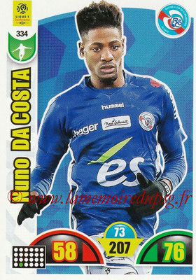 2018-19 - Panini Adrenalyn XL Ligue 1 - N° 334 - Nuno DA COSTA (Strasbourg)