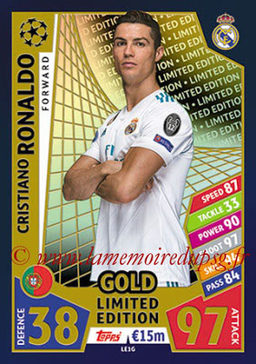 2017-18 - Topps UEFA Champions League Match Attax - N° LE1G - Cristiano RONALDO (Real Madrid CF) (Limited Edition Gold)
