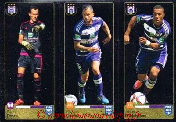 2015-16 - Panini FIFA 365 Stickers - N° 143-144-145 - Silvio PROTO + Steven DEFOUR + Youri TIELEMANS (RSC Anderlecht)