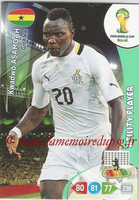2014 - Panini FIFA World Cup Brazil Adrenalyn XL - N° 175 - Kwadwo ASAMOAH (Ghana) (Utility Player)