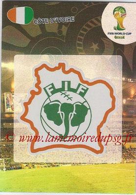 2014 - Panini FIFA World Cup Brazil Adrenalyn XL - N° 094 - Logo Côte d'Ivoire