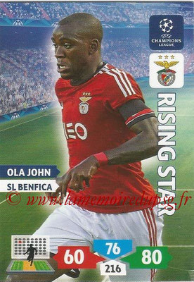 2013-14 - Adrenalyn XL champions League N° 097 - Ola JOHN (SL Benfica) (Rising Star)