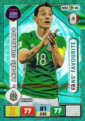 2018 - Panini Road to FIFA World Cup Russia Adrenalyn XL - N° MEX06 - Andrés GUARDADO (Mexique) (Fans' Favourite)