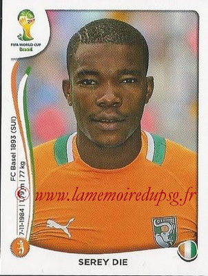 2014 - Panini FIFA World Cup Brazil Stickers - N° 234 - Serey DIE (Côte d'Ivoire)