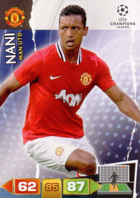 2011-12 - Panini Champions League Cards - N° 152 - NANI (Manchester United FC)