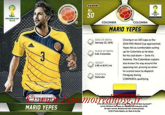 N° 050 - Mario YEPES (2004-08, PSG > 2014, Colombie)