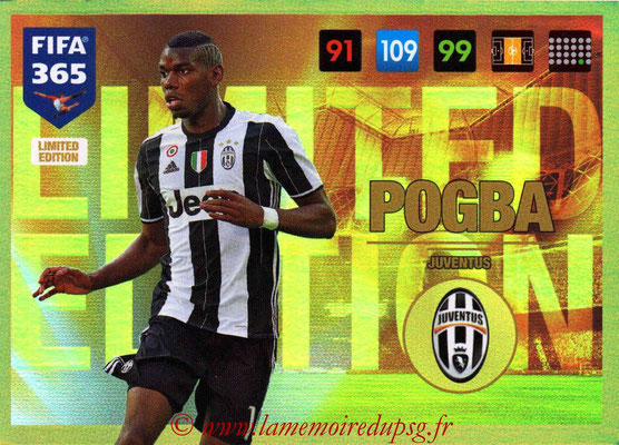 2016-17 - Panini Adrenalyn XL FIFA 365 - N° LE37 - Paul POGBA (Juventus FC) (Limited Edition)