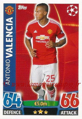 2015-16 - Topps UEFA Champions League Match Attax - N° 338 - Antonio VALENCIA (Manchester United)