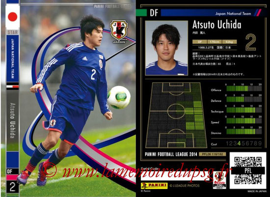 Panini Football League 2014 - PFL06 - N° 118 - Atsuto UCHIDA (Japon) (Star)
