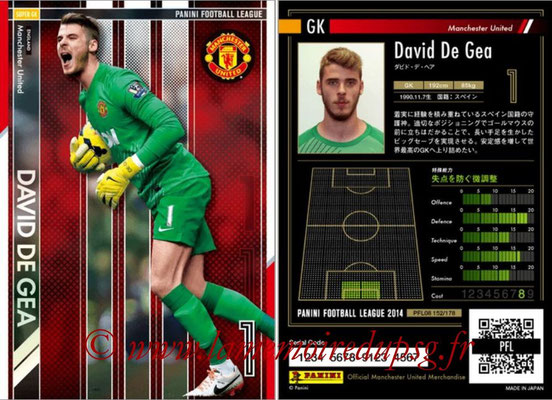 Panini Football League 2014 - PFL08 - N° 152 - David DE GEA (Manchester United) (Super GK)