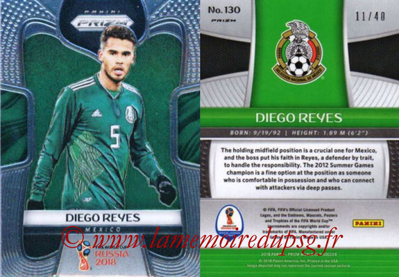 2018 - Panini Prizm FIFA World Cup Russia - N° 130 - Diego REYES (Mexique)