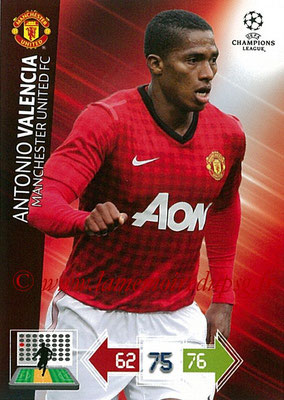 2012-13 - Adrenalyn XL champions League N° 144 - Antonio VALENCIA (Manchester United FC)