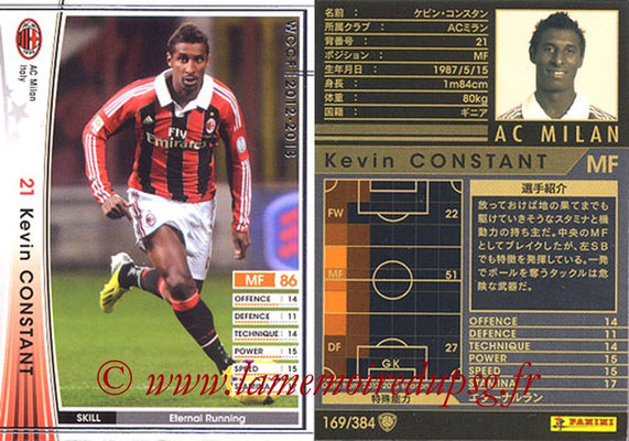 2012-13 - WCCF - N° 169 - Kevin CONSTANT (Milan AC)