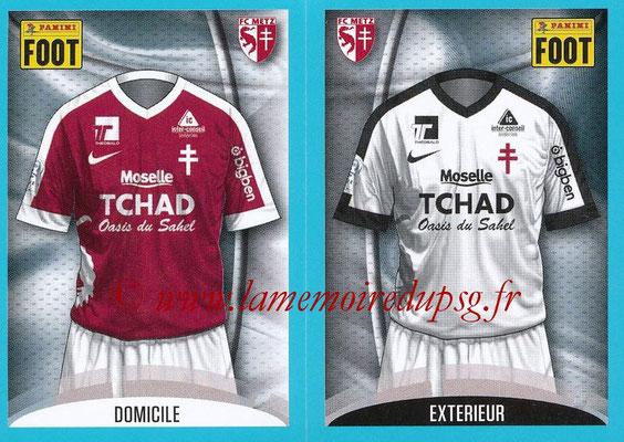2016-17 - Panini Ligue 1 Stickers - N° 426 + 427 - Maillot Domicile + Extérieur (Metz)