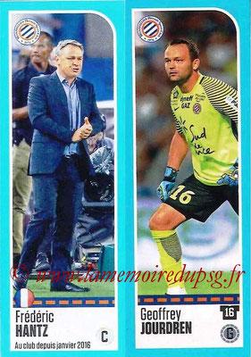 2016-17 - Panini Ligue 1 Stickers - N° 512 + 513 - Frédéric HANTZ + Geoffrey JOURDREN (Montpellier)