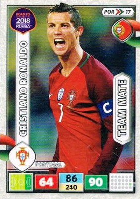 2018 - Panini Road to FIFA World Cup Russia Adrenalyn XL - N° POR17 - Cristiano RONALDO (Portugal)