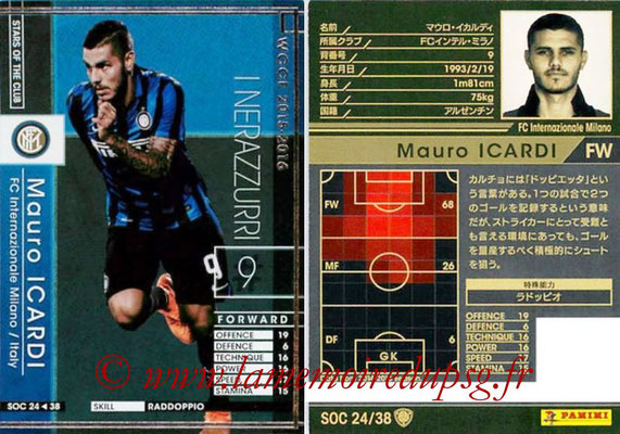 2015-16 - Panini WCCF - N° SOC24 - Mauro ICARDI (FC Inter Milan) (Stars Of The Club)