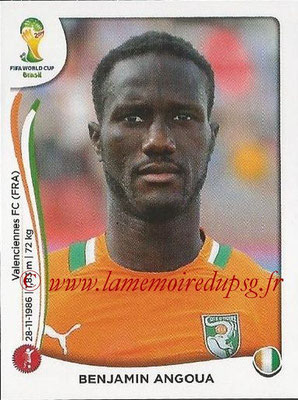 2014 - Panini FIFA World Cup Brazil Stickers - N° 229 - Benjamin ANGOUA (Côte d'Ivoire)