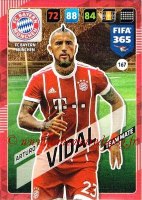 2017-18 - Panini FIFA 365 Cards - N° 167 - Arturo VIDAL (FC Bayern Munich)