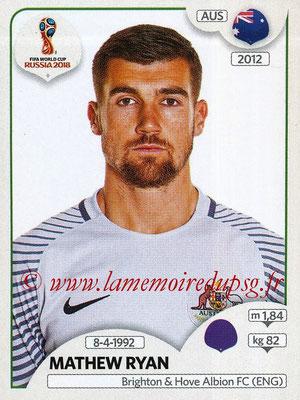 2018 - Panini FIFA World Cup Russia Stickers - N° 214 - Mathew RYAN (Australie)