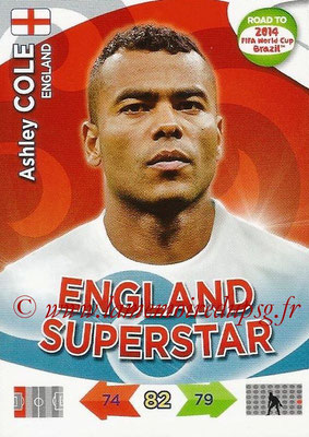 2014 - Panini Road to FIFA World Cup Brazil Adrenalyn XL - N° 063 - Ashley COLE (Angleterre)