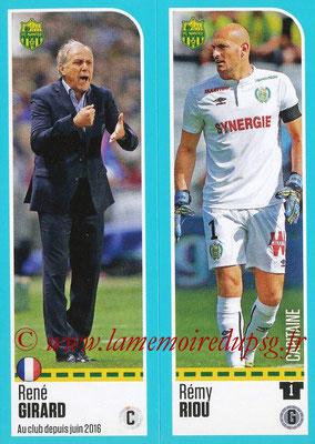 2016-17 - Panini Ligue 1 Stickers - N° 596 + 597 - René GIRARD + Rémi RIOU (Nantes)