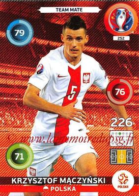 Panini Euro 2016 Cards - N° 252 - Krzysztof MACZYNSKI (Pologne)