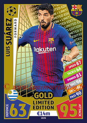 2017-18 - Topps UEFA Champions League Match Attax - N° LE2G - Luis SUAREZ (FC Barcelone) (Limited Edition Gold)