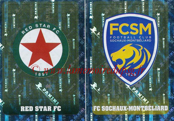 2018-19 - Panini Ligue 1 Stickers - N° 553 - Ecussons Red Star FC + FC Sochaux-Montbeliard