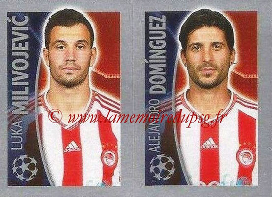 2015-16 - Topps UEFA Champions League Stickers - N° 421 - Luka MILIVOJEVIC + Alejandro DOMINGUEZ (Olympiacos FC)