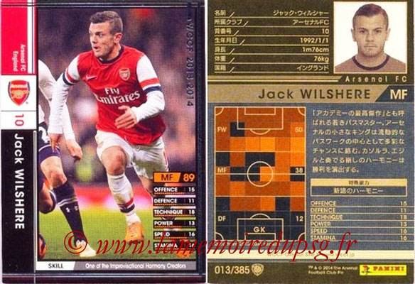 2013-14 - WCCF - N° 013 - Jack WILSHERE (Arsenal FC)